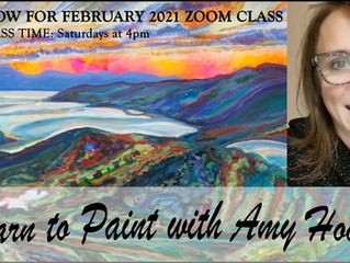 February Zoom art class dates for your diary!