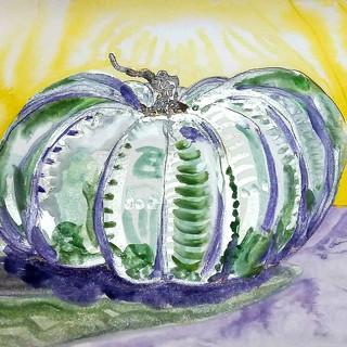 Green Pumpkin by Amy Hooton