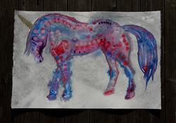 Unicorn horse painting by Amy Hooton