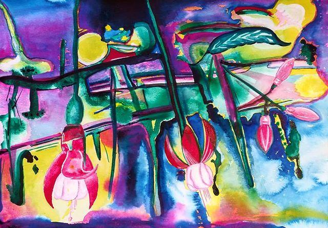 Abstract Fuchsias _#abstractart #art #co