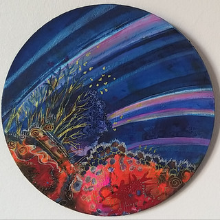 Shimmery Shell Coral Painting