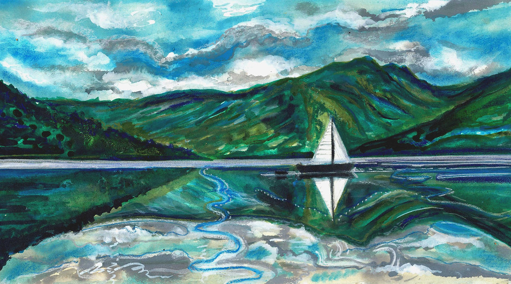 Loch Fine Reflections by Amy Hooton