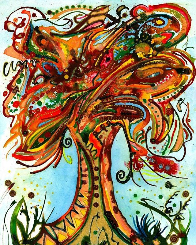 Autumn Tree painting commission