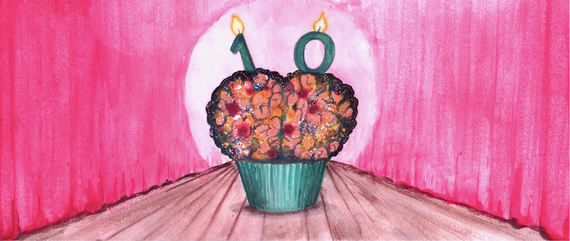 2015 IJS cabaret cupcake
