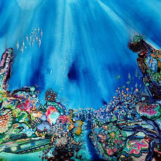 Coral painting number 1, SOLD
