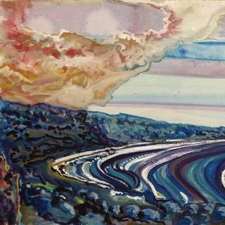 Coastal landscape by Amy Hooton