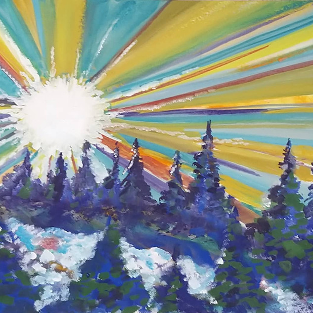 Sunshine Glory landscape by Amy Hooton
