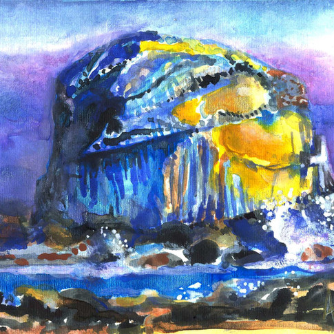 Purple Bass Rock by Amy Hooton
