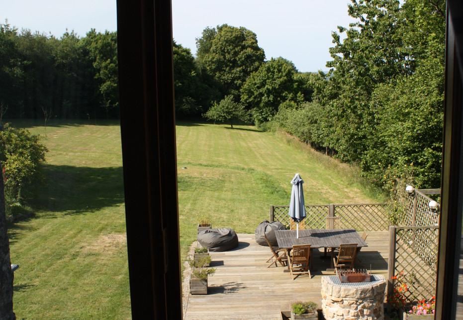 Blue Bedroom View