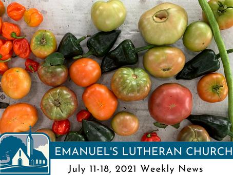 July 11-18, 2021 Weekly News