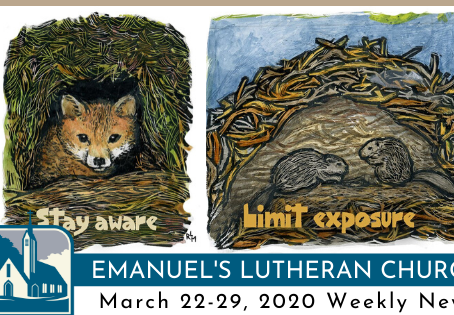 March 22-29, 2020 Weekly News