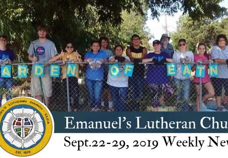 September 22-29, 2019 Weekly News