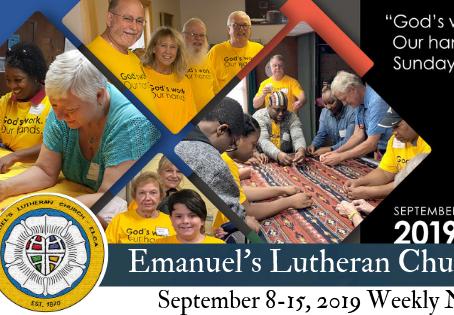 September 8-15, 2019 Weekly News
