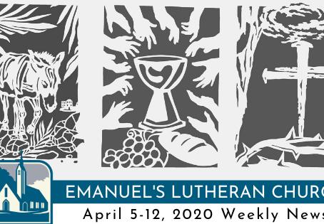 April 5-12, 2020 Weekly News