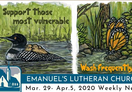 Mar.29 - Apr. 5, 2020 Weekly News