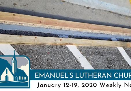 January 12-19, 2020 Weekly News