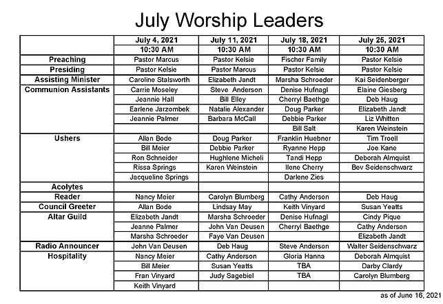 2021 July Worship Leader Schedule_Page_1