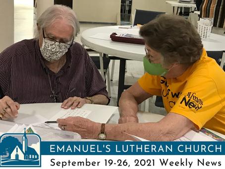 September 19-26, 2021 Weekly News