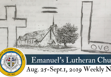 August 25 - September 1, 2019 Weekly News