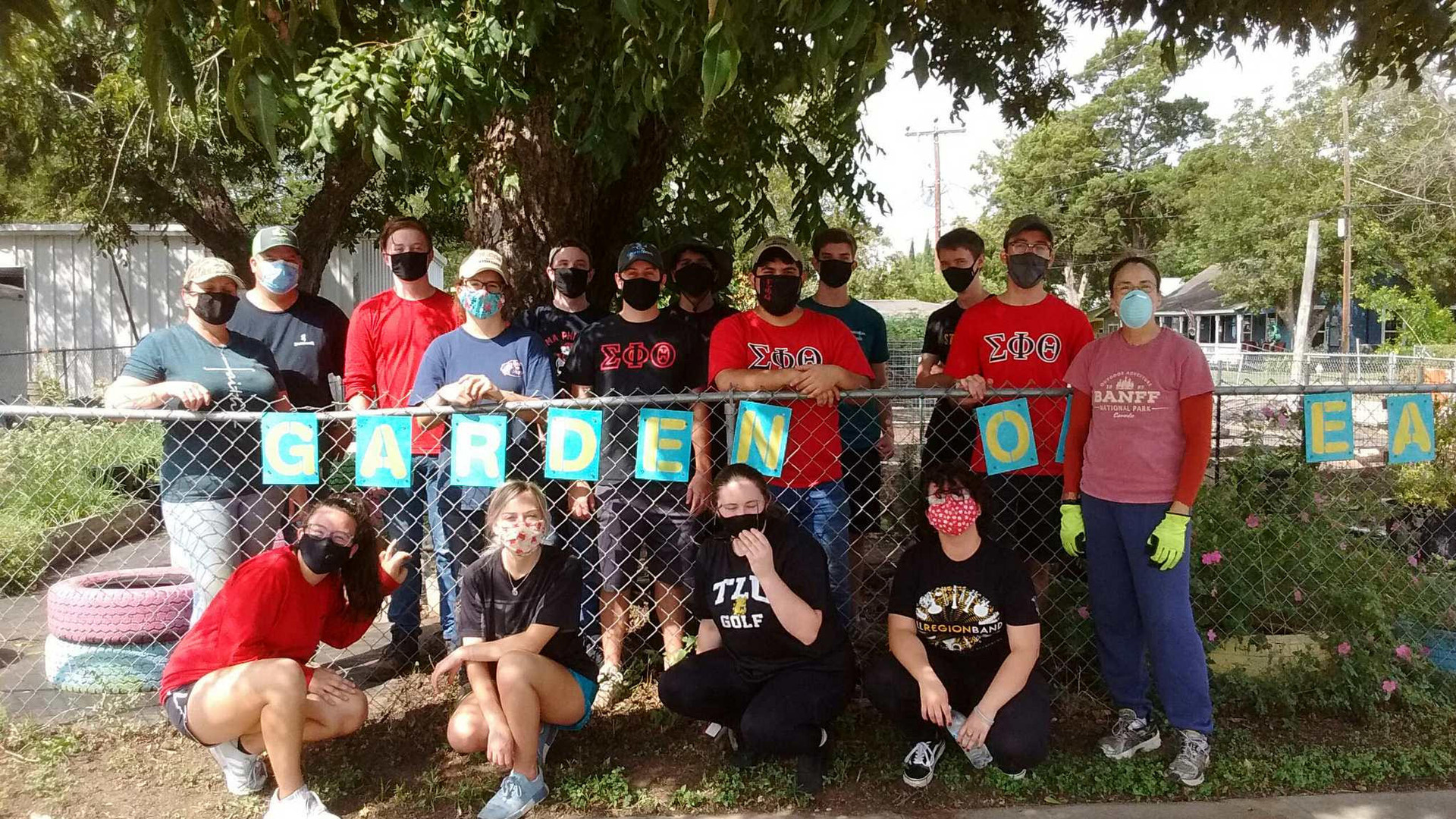 Garden of Eatin with TLU Volunteers