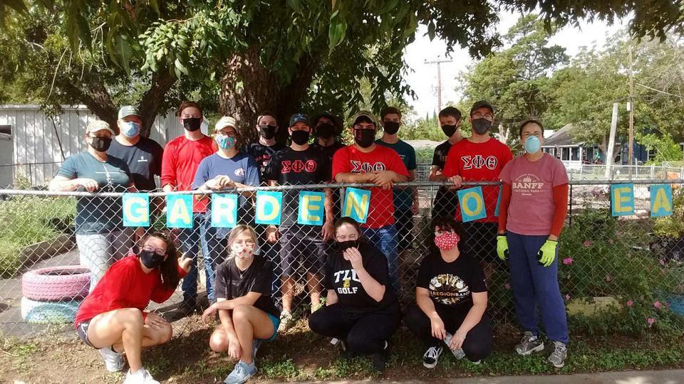 Garden of Eatin with TLU Volunteers