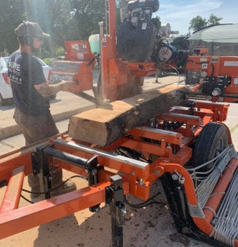 Making lumber or wood products from your own tree after removal by Hoppe