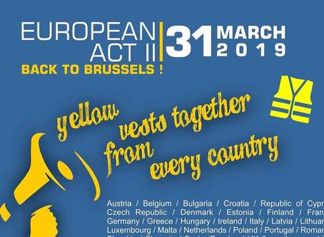 """黄背心欧洲大行动""""回到布鲁塞尔""""!集结了欧洲各国人马,70人被捕"""