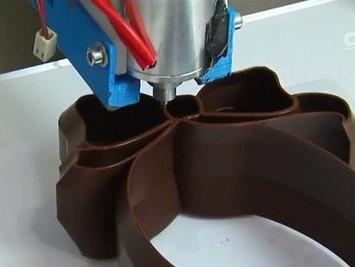 比利时3D打印巧克力,美味又美观