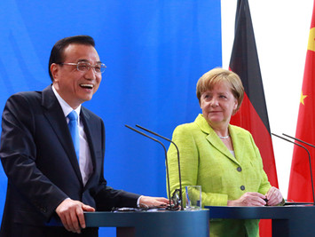 李克强赴柏林展开中德总理会晤
