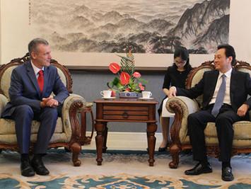 外交部副部长王超会见比利时离任驻华大使马怀宇