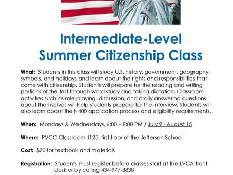 LVCA Intermediate-level Citizenship Class