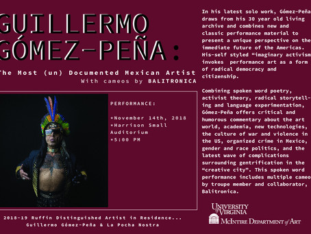 November 14th: Guillermo Gómez-Peña Performance!