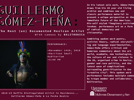 November 14th: Guillermo Gómez-Peña Performance!