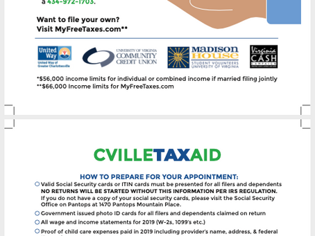 CVILLE TAX AID - Preparing for your Appt.