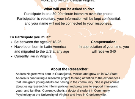 UVA Research Opportunity // Updated