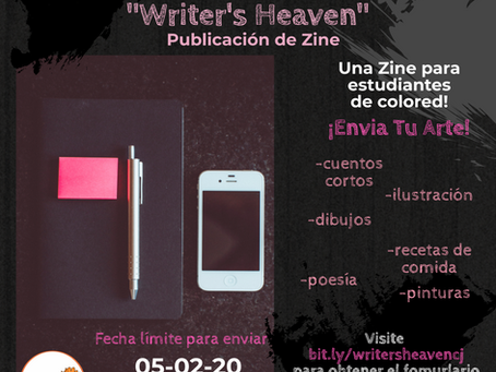 CJ - Writer's Heaven Zine! Open Call For Art!