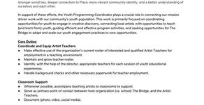 Youth Programming - The Bridge PAI