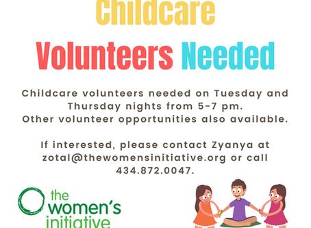 Childcare Volunteers Needed