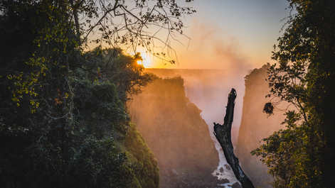 A uniquw view of Victoria Falls