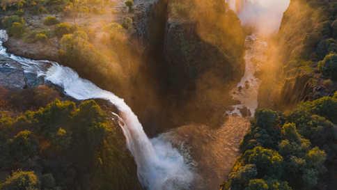 Devil's Cataract in Victoria Falls