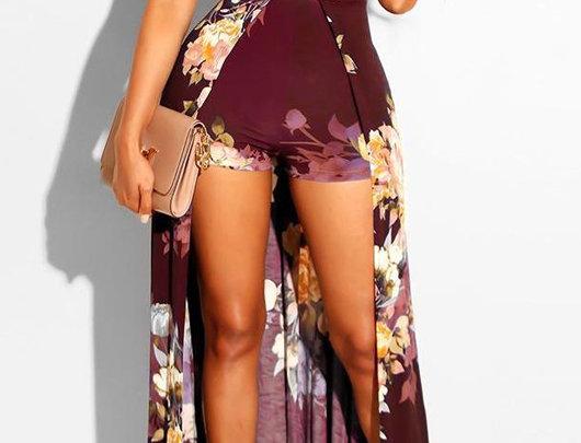 Macacão/ Vestido floral