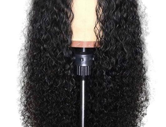 Peruca de cabelo encaracolado sem cola, sintética