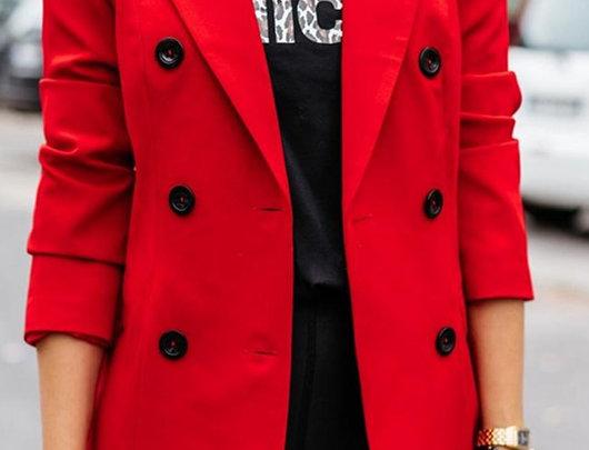 Casaco Blazer Sólido Red