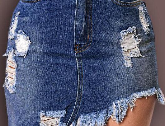 Saia cintura alta Jeans