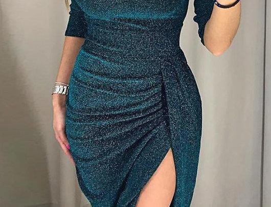 Vestido de festa coxa fenda