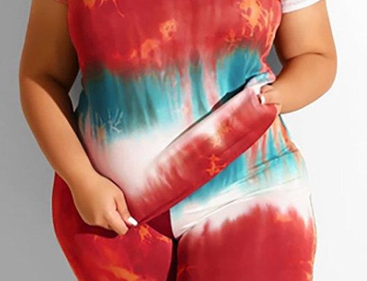 Tie Dye Print Conjunto
