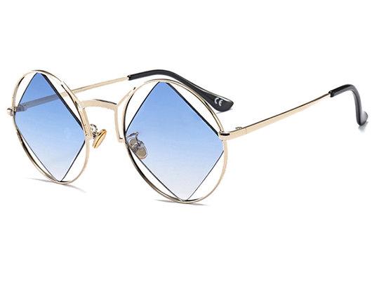 Óculos de sol redondos da lente do quadro