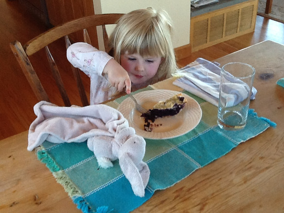 Introducing Our Daughter to a Great Yankee Tradition: Pie for Breakfast