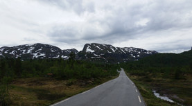 Remote road in southern Norway