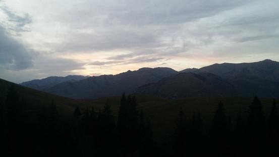 Dusk over Kygyzstan